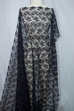 Haute NY Designer Rayon Blend Floral Guipure Lace - Black