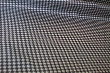 Mini Houndstooth Rayon Blend Lining - Dark Brown/White