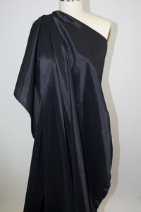 Stretch Satin Lining - Black