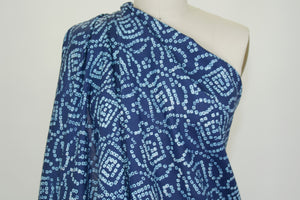 Beads and Bows Blouse Weight Linen  - Blues