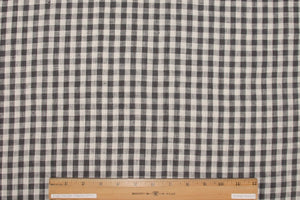 Italian Shirt-Weight Linen Check - Brown/Natural