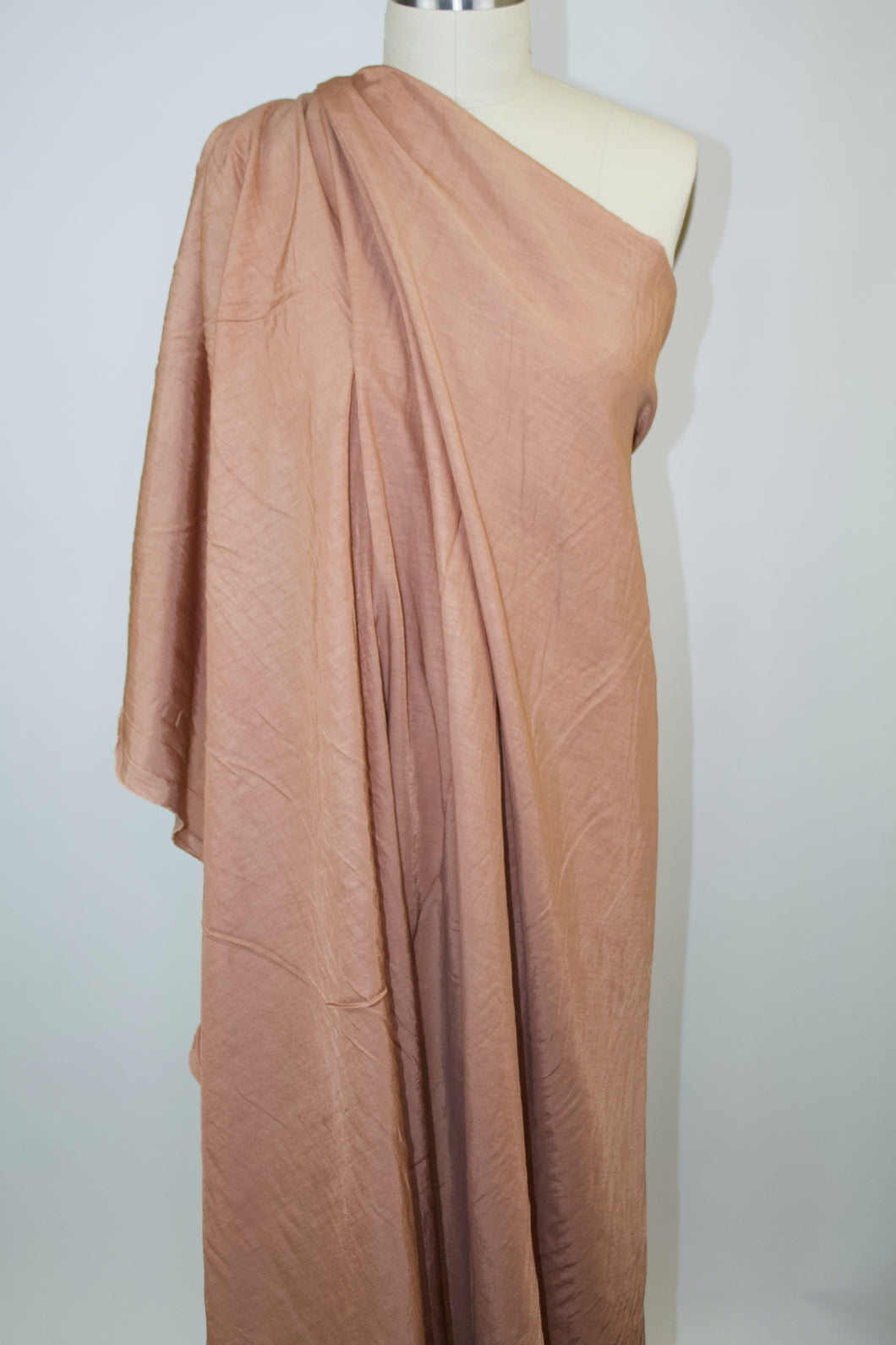 Soft Italian Blouse Weight Linen Twill - Apricot