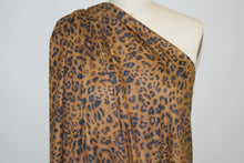 Animal Print Sueded Microfiber Stretch - Cinnamon/Black
