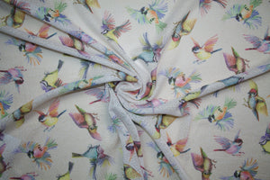 Fly Birdie Fly! Designer Novelty Weave - Multi on Natural