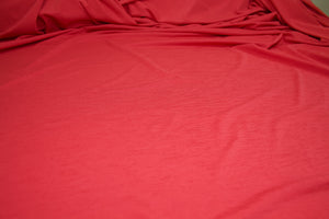 Crepe Finish Solid ITY Jersey - Spicy Red