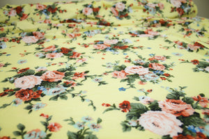 I Promised You a Rose Garden Super Soft Jersey - Yellow Tones/Green
