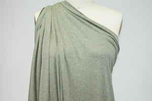 Double Brushed ITY Jersey - Heathered Olive