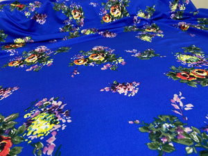 Floral Bouquets ITY - Multi on Royal Blue