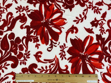 Stylized Floral/Paisley ITY Jersey - Reds on White