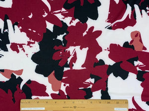 Abstract Florals ITY Jersey - Red Tones/Black/White