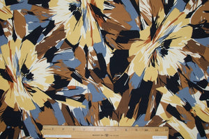 Fantastic Florals ITY Jersey - Brown/Yellow/Gray on Black