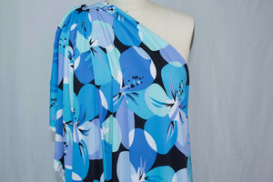 Fun Flirty Floral ITY Jersey - Blues