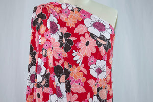 Fun Florals ITY Jersey - Red Tones