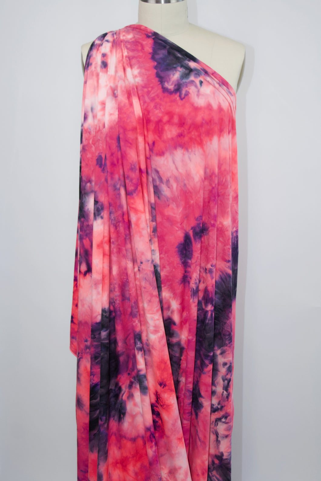 Pink Lady Tye Dye Double Brushed ITY Jersey - Pink Tones