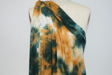 Desert Sands Tye Dye Double Brushed ITY Jersey - Olives/Copper
