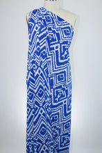 Ikat Inspired ITY Jersey - Blue/White