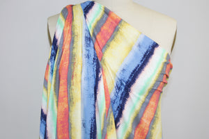 Sun Showers Stripe Double Brushed ITY Jersey - Multi