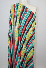 Jungle Showers Stripe Double Brushed ITY Jersey - Multi Brights