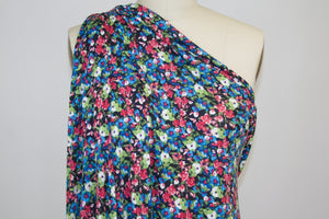 Petite Floral Soft ITY Knit - Multi on Black