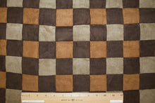 Checkered Past Patchwork Ultra Suede - Browns