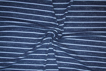 Splendid Designer Henley Knit Striped Cotton - Grays/White
