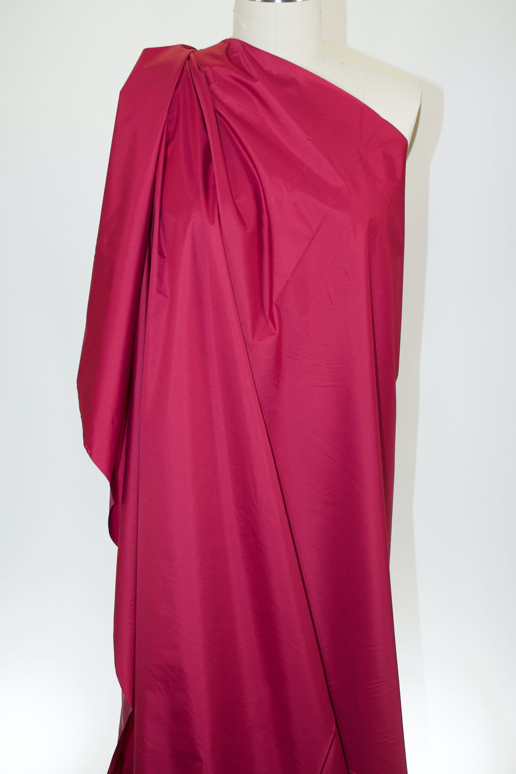 Stylin' in the Storm NY Designer Coated Satin - Burgundy