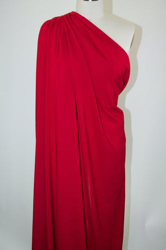 Classic Rayon Challis - True Red