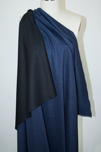 Reversible (!) Rayon Double Knit - Denim Blue/Black