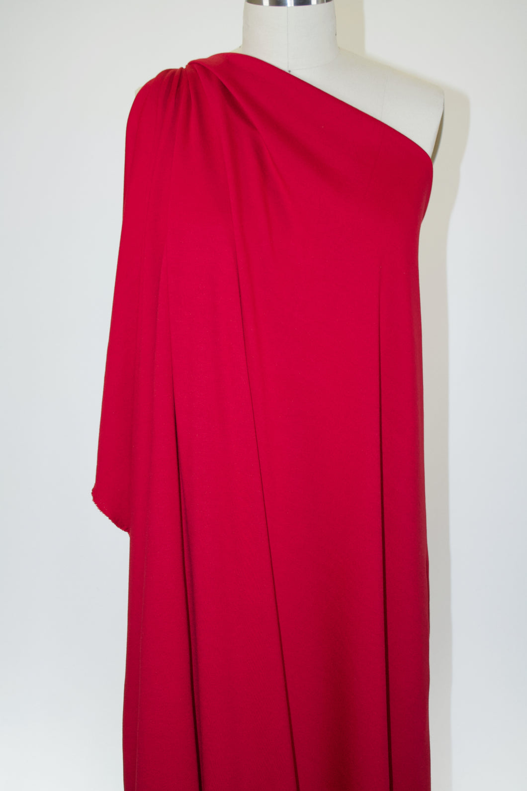 Designer Rayon Double Knit - Lipstick Red