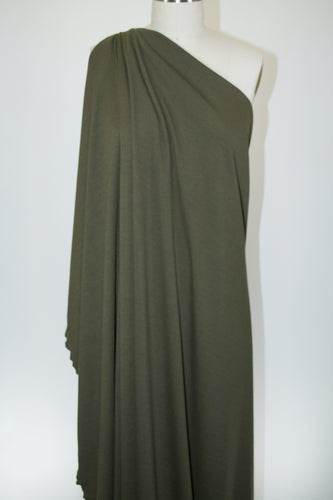 Designer Rayon Double Knit - Anything BUT Drab Olive
