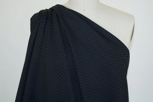 Italian Pin Dot Rayon Double Knit - Black/White