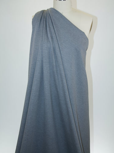 Designer Rayon Double Knit - Heathered Medium Gray