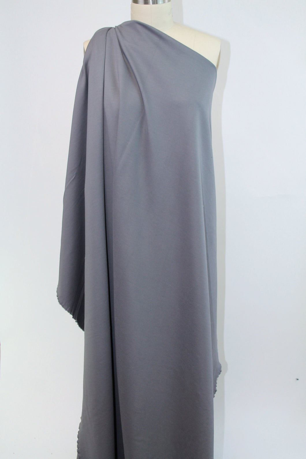 Designer Rayon Double Knit - Steely Gray