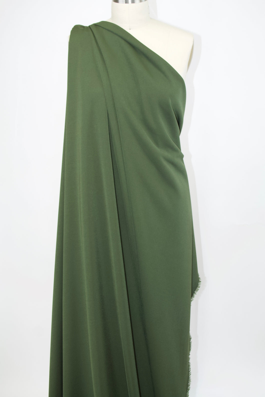 Designer Rayon Double Knit - Chive Green