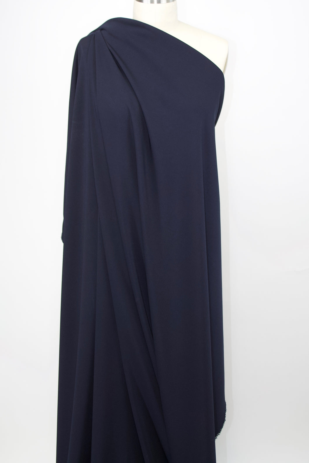 Designer Rayon Double Knit - Navy Blue