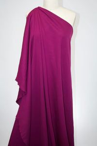 Wide Designer Rayon Double Knit - Purple Wine