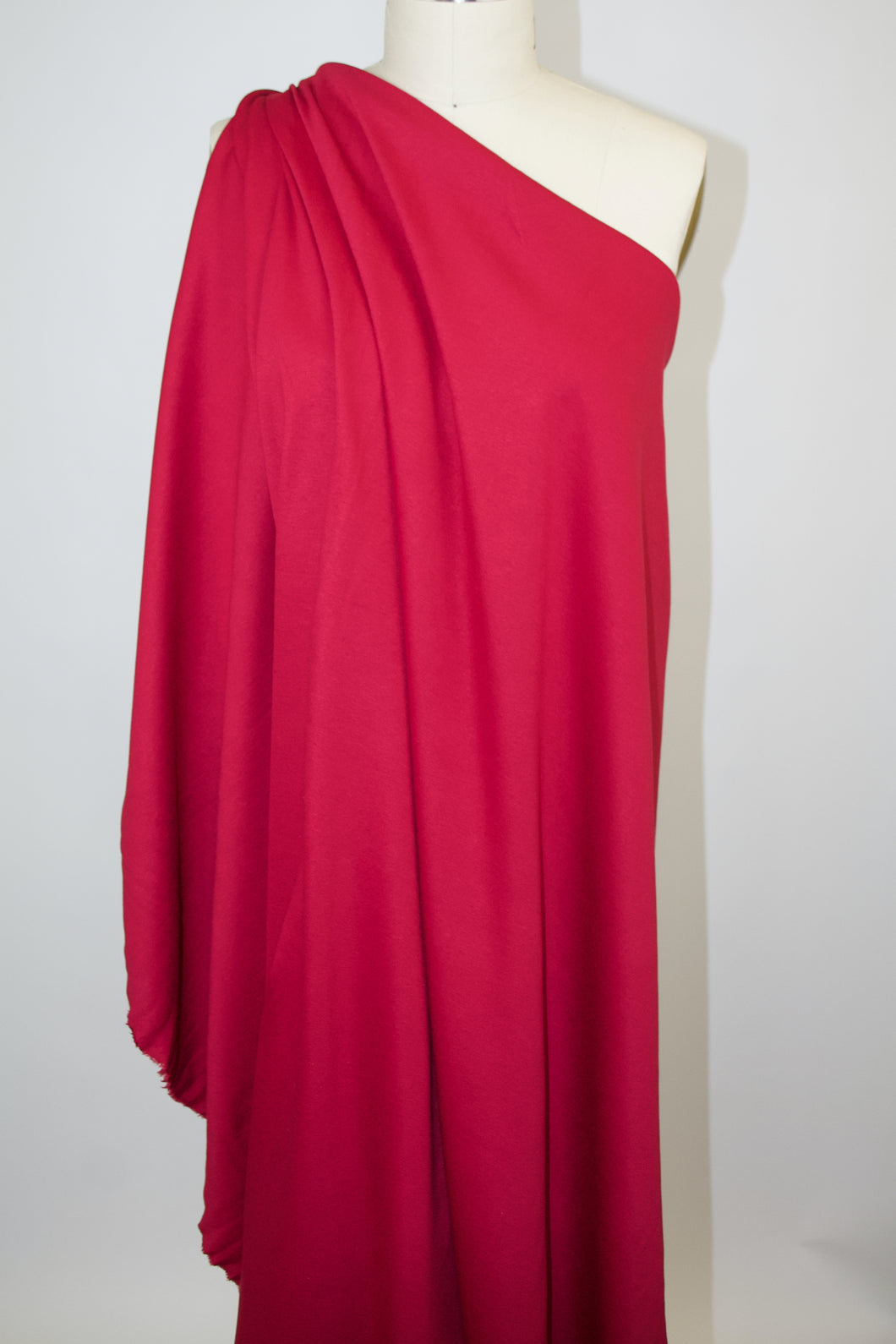 Designer Rayon Double Knit - Jazzy Red