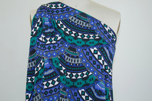 Fan Tango Rayon Jersey - Blues/Green