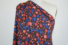 Jewels in the Crown Rayon Jersey - Reds/Blues on Black