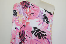 ~2 1/2 yards of Lovely Leafy Wide Rayon Jersey - Pink Tones