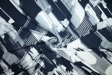 Italian Abstract Rayon Jersey - Grays/Black/White