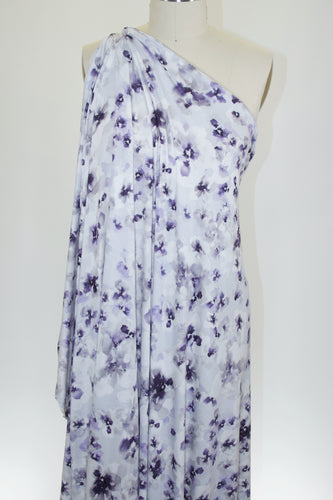 Valley Spring Rayon Jersey - Purples/Grays/White