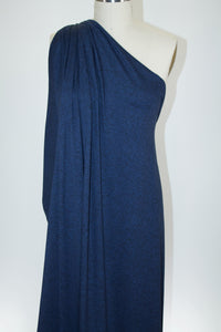 Super Soft Rayon Jersey - Heathered Midnight Blue