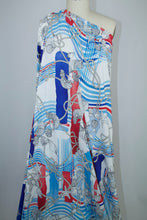 Come Sail Away Italian Rayon Jersey - Reds/White/Blues/Natural