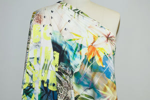 Jungle Dreams Abstract Italian Rayon Jersey - Warm Tones