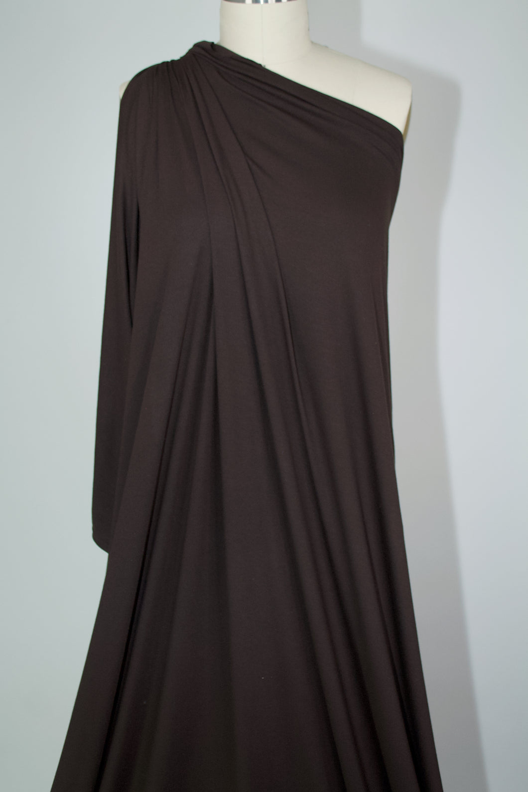 1+ yard of Extra Wide, Soft Rayon Jersey - Bittersweet Chocolate