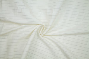 Pinstriped Stretch Linen Blend Bottom Weight - Brown/Natural White