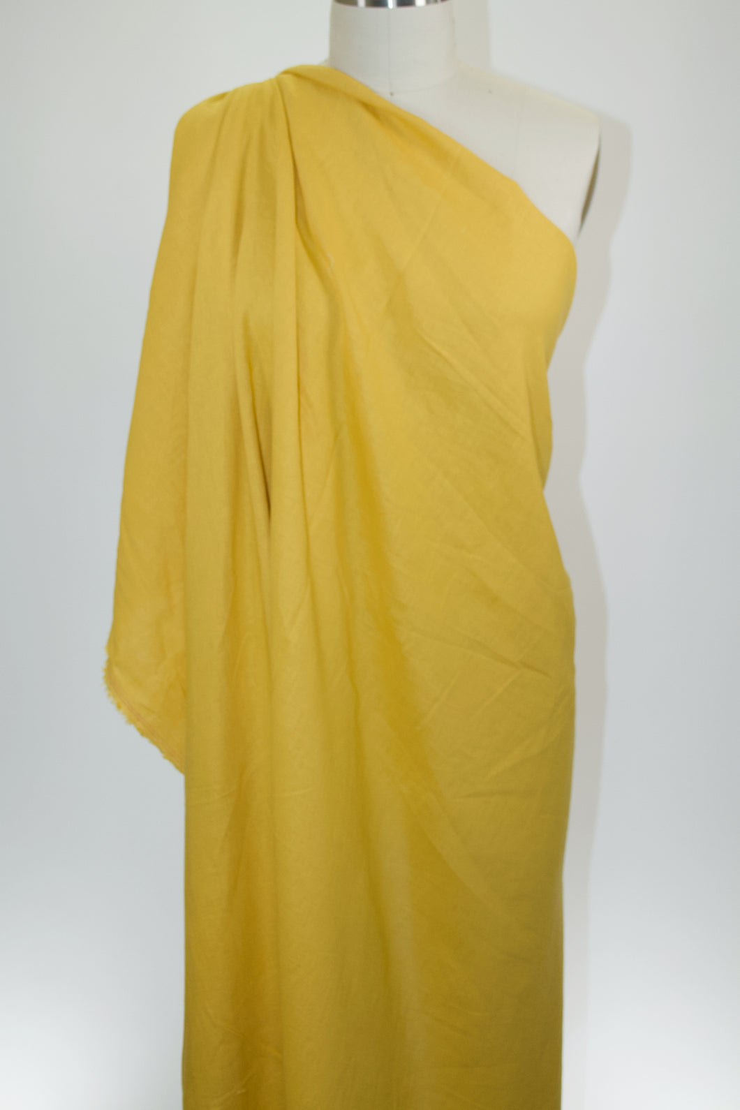 Rayon-Linen Blend Broadcloth - Mustard Yellow