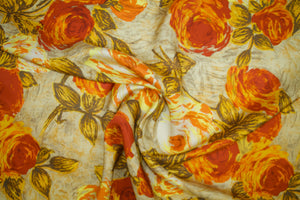 M!chael K0rs Floral Rayon Twill - Autumn Tones
