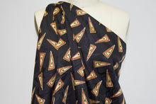 Triangulate This Silk Jacquard Charmeuse - Green/Gold/Brown on Black